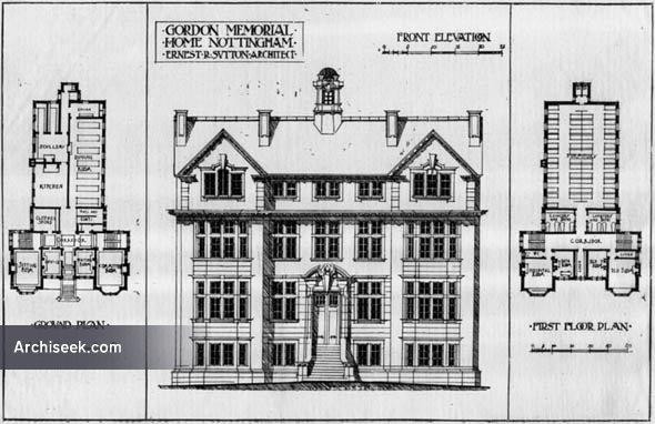 1903 – Gordon Memorial Home, Nottingham, Nottinghamshire