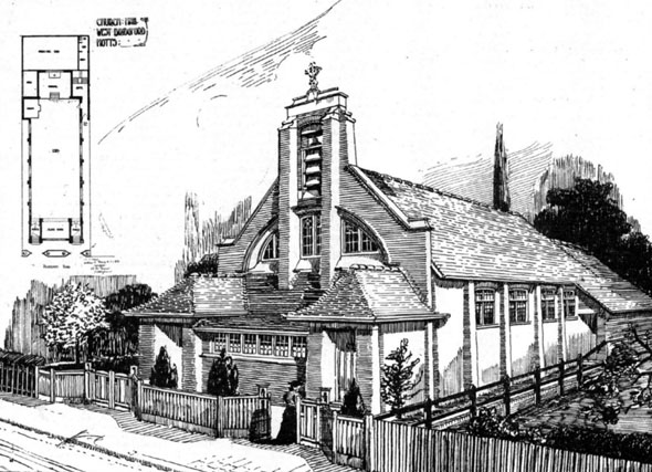 1906 &#8211; Church Hall, West Bridgford, Nottinghamshire