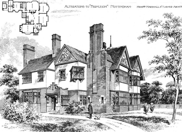 1896 &#8211; Alteration to &#8216;Fernliegh, Nottingham, Nottinghamshire