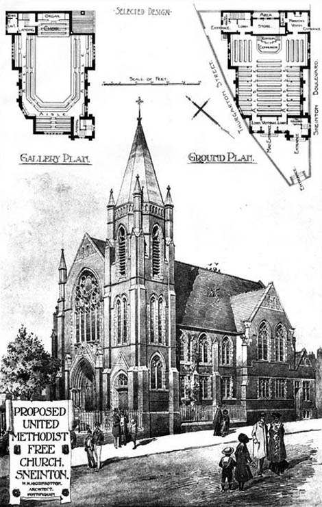 1903 – Proposed United Methodist Free Church, Sneinton, Nottinghamshire