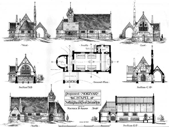 1877 – Proposed Mortuary Chapel, Nottingham, Nottinghamshire
