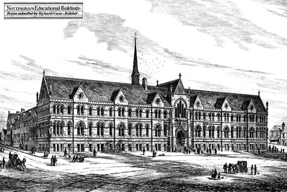 1876 &#8211; Nottingham Educational Buildings, Nottinghamshire