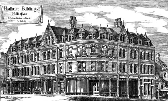 1881 – Heathcote Buildings, Nottingham, Nottinghamshire