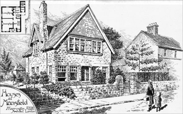 1898 &#8211; Houses at Mansfield, Nottinghamshire