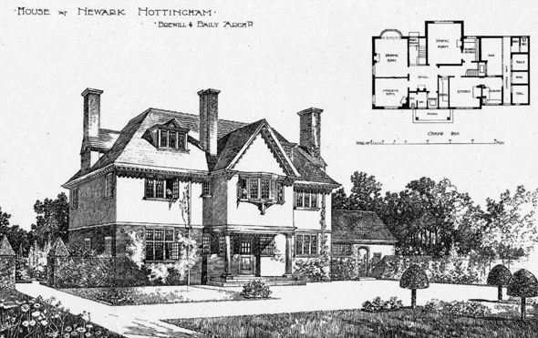 1899 &#8211; House at Newark, Nottingham