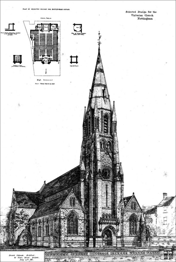 1874 &#8211; Unitarian Church, Nottingham