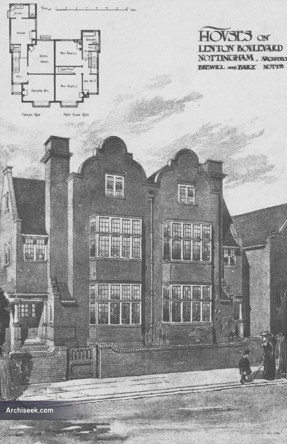 1898 – Houses, Lenton Boulevard, Nottingham