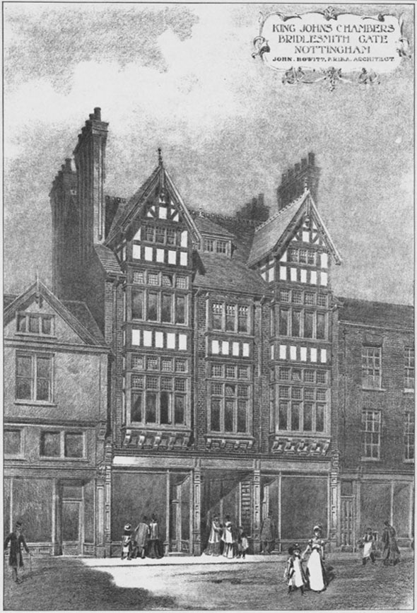 1901 &#8211; King Johns Chambers, Bridlesmith Gate, Nottingham