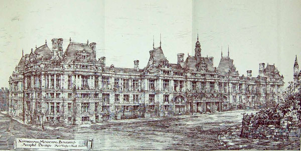 1883 – Selected Design Nottingham Municipal Buildings