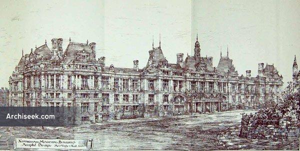 1883 – Selected Design Nottingham Municipal Buildings