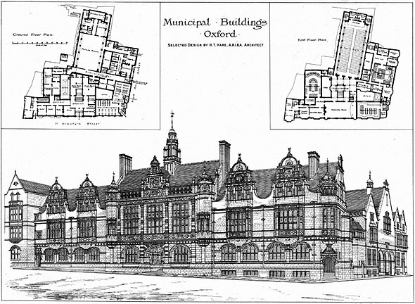 1892 &#8211; Municipal Buildings, Oxford