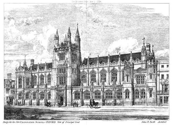1876 – New Examination Schools, Oxford