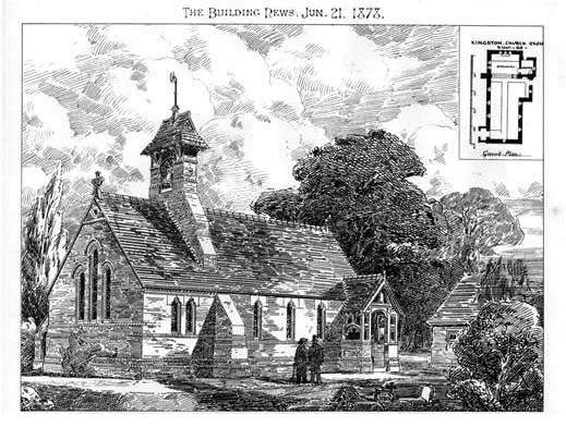 1878 &#8211; Kingston Church, Oxfordshire