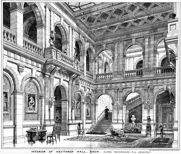 1878 – Interior of Heythrop Hall, Oxfordshire