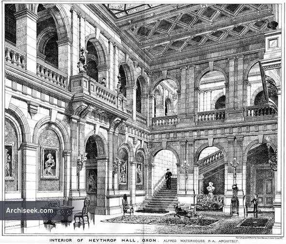 1878 – Interior of Heythrop Hall, Oxfordshire
