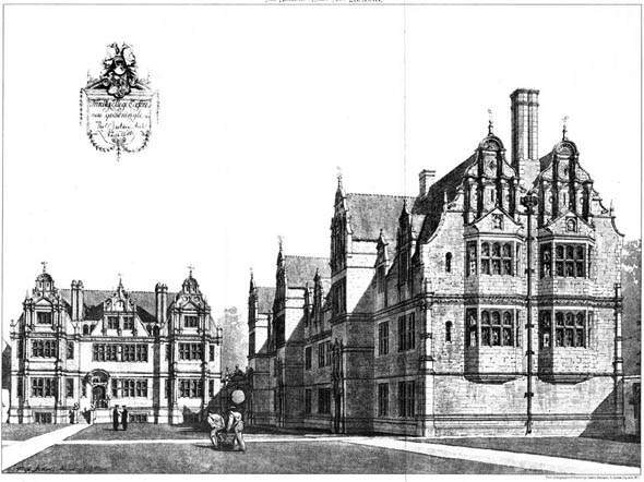 1885 &#8211; New Quadrangle, Trinity College, Oxford