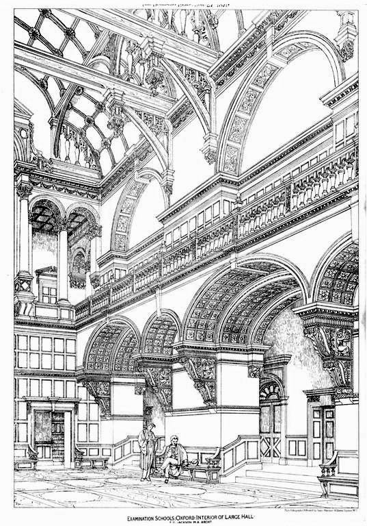 1879 &#8211; Interior of Large Hall, Examination Schools, Oxford