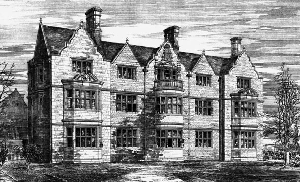 1881 &#8211; Masters Lodge, University College, Oxford