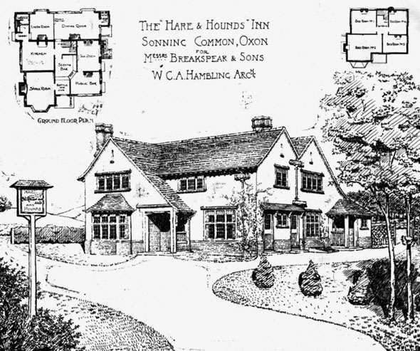 "1908 – The ""Hare & Hounds"" Inn, Sonning Common, Oxfordshire"