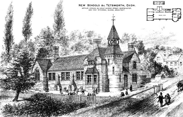 1880 &#8211; New Schools, Tetsworth, Oxfordshire
