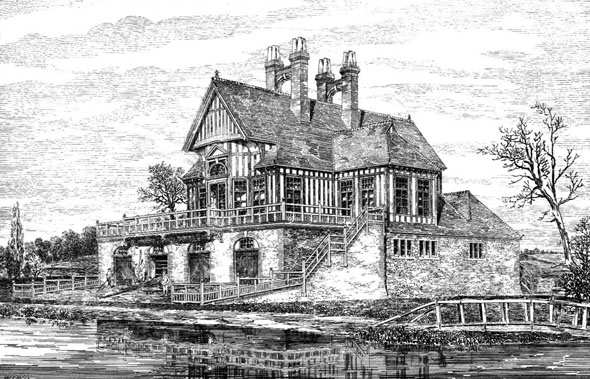 1880 &#8211; New Boat House, Oxford, Oxfordshire