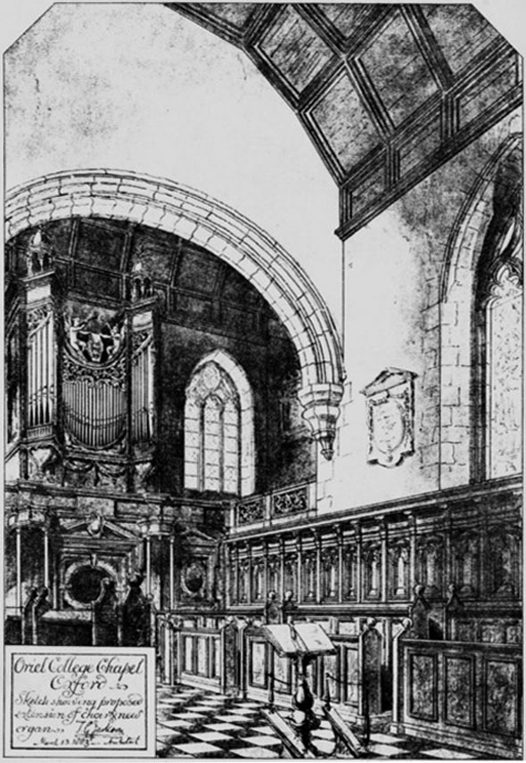 1886 – Oriel College Chapel, Oxford, Oxfordshire
