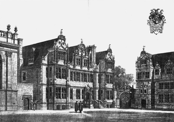 1887 &#8211; New Quadrangle, Trinity College, Oxford