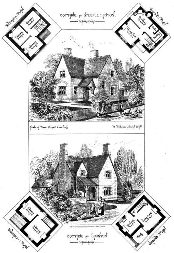1870 &#8211; Cottages at Steeple Aston &#038; Launton, Oxfordshire