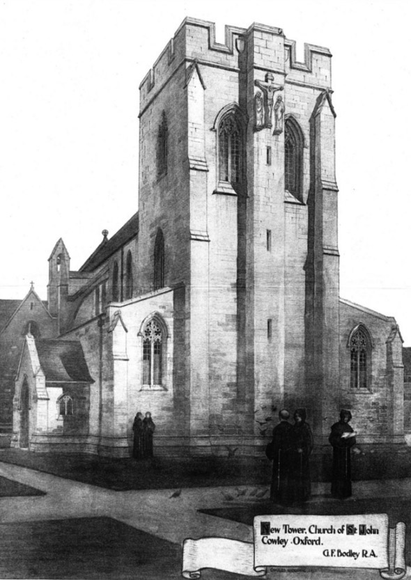 1904 &#8211; New Tower, Church of St. John, Cowley, Oxford