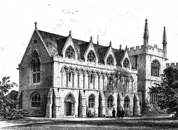 1858 &#8211; New Library, Exeter College, Oxford