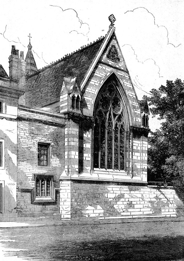 1857 – Balliol College Chapel, Oxford, Oxfordshire