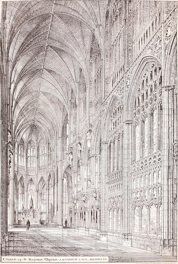 1872 – Unbuilt Interior Design for Church of St. Aloysius, Oxford