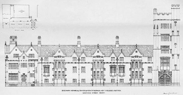 1899 – New Buildings, New College, Oxford