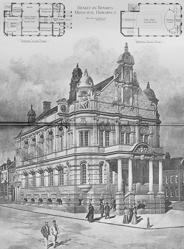 1898 – Design for Municipal Buildings, Henley-on-thames, Oxfordshire