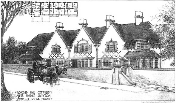 1905 &#8211; Proposed Five Cottages, Market Drayton, Shropshire