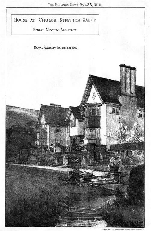 1910 &#8211; House at Church Stretton, Shropshire