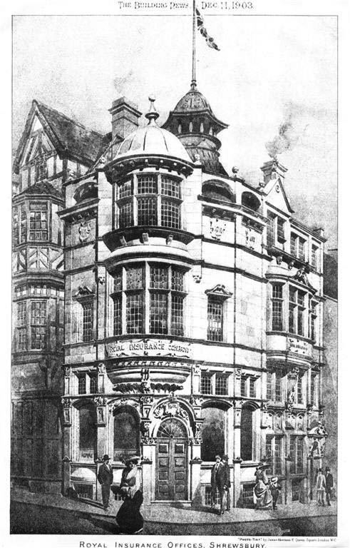 1903 &#8211; Royal Insurance Offices, Shrewsbury, Shropshire