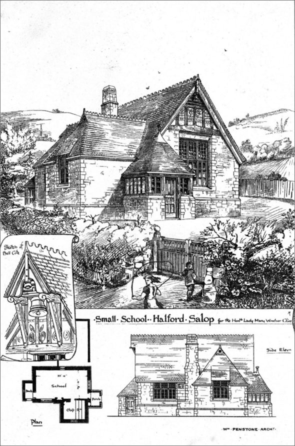 1875 &#8211; Small School, Halford, Shropshire