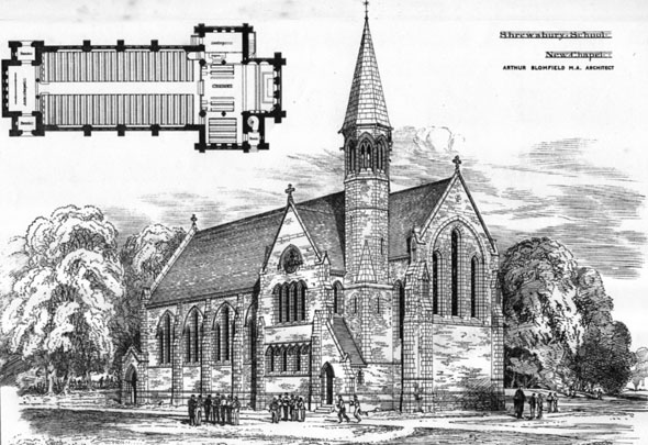 1881 &#8211; New Chapel, Shrewsbury School, Shropshire