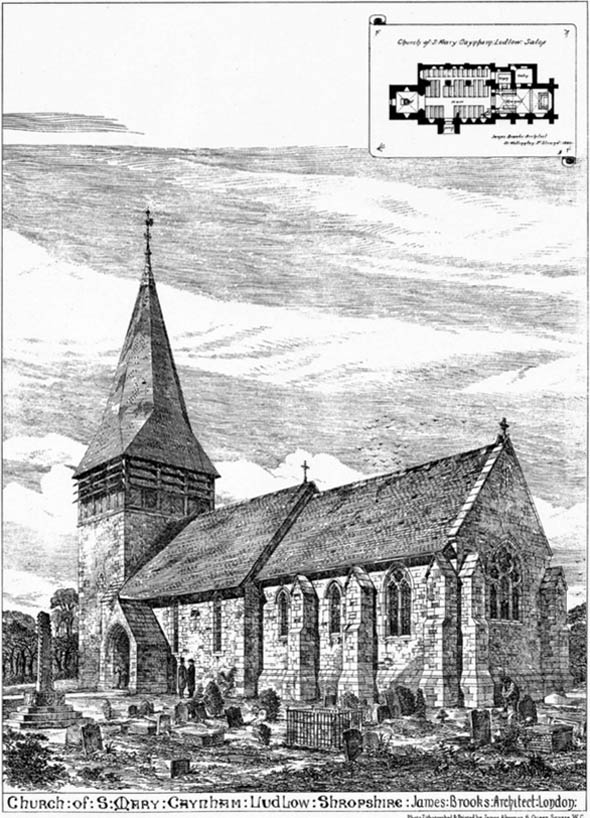 1880 &#8211; Church of St. Mary, Ludlow, Shropshire