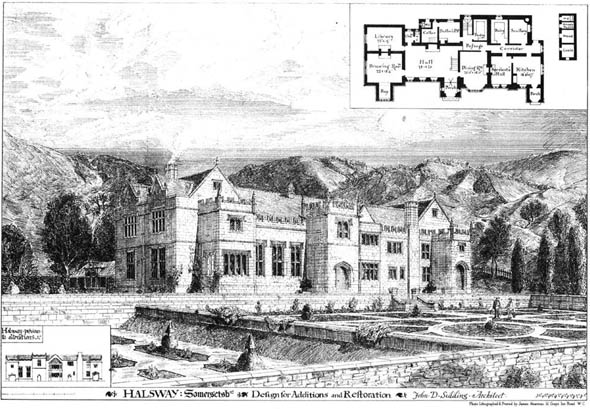 1875 &#8211; Designs for Additions &#038; Restorations, Halsway, Somerset