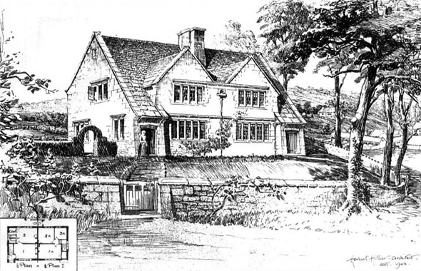 1905 &#8211; Cottages, Shockerwick, Bath, Somerset