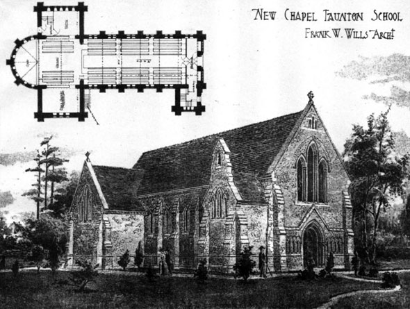 1906 &#8211; New Chapel, Taunton School, Somerset