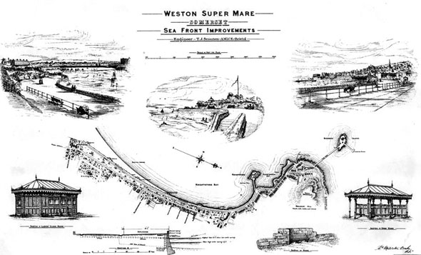 1885 &#8211; Weston Super Mare Sea Front Improvements, Somerset