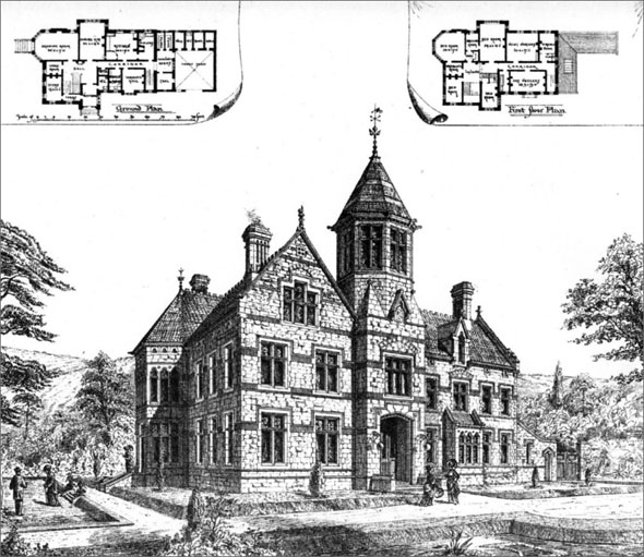 1885 &#8211; House at East Harptree, Somerset