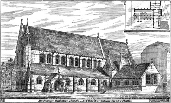 1881 &#8211; St. Mary&#8217;s Church &#038; Schools, Bath, Somerset