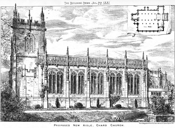 1881 – Proposed New Aisle, Chard Church, Somerset