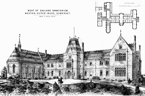 1871 – West of England Sanatorium, Weston-Super-Mare, Somersetshire