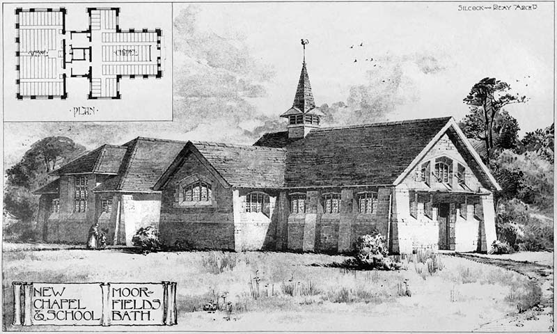 1899 – Chapel & School, Moorfields,  Somerset