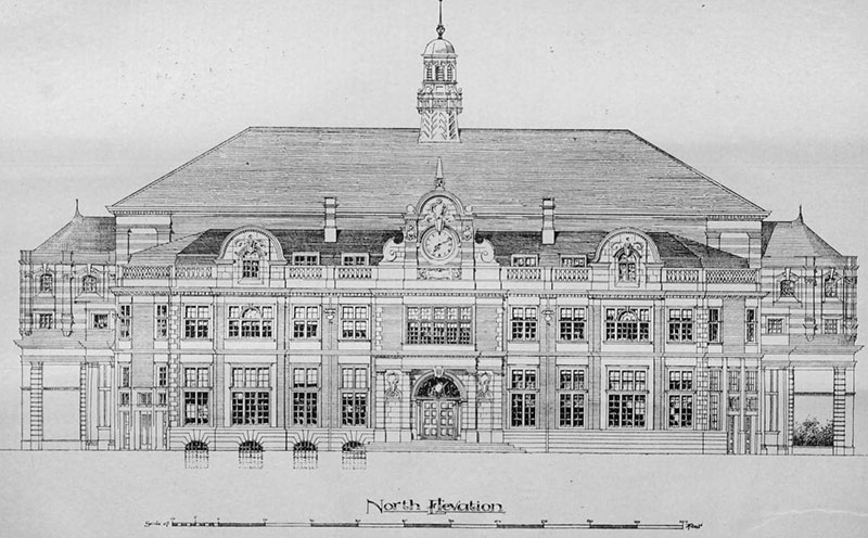 1898 – Design for Town Hall, Taunton, Somerset